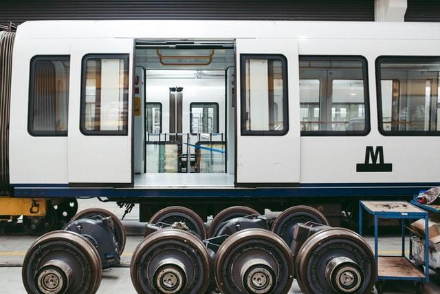 transport vehicle under maintenance
